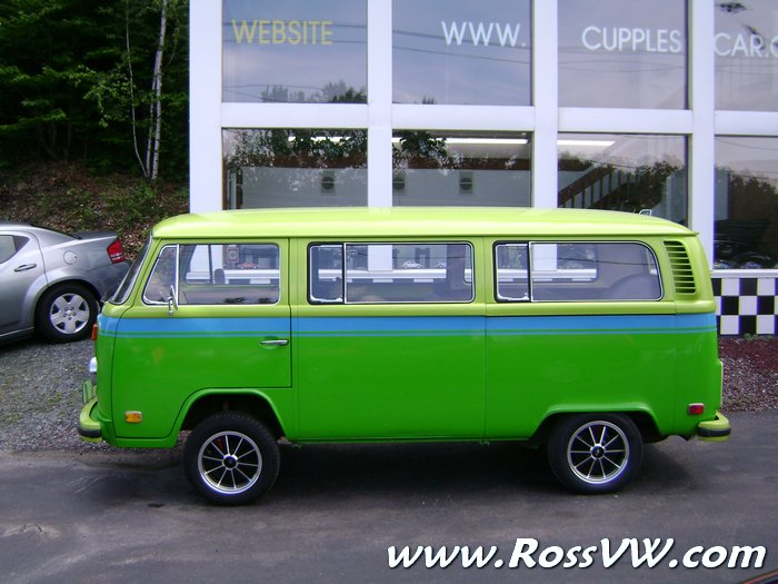 1973 Vw Bus Factory Lime Green Apple Green Two Tone With